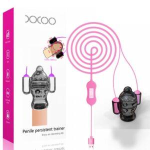 Estimulador Duplo de Eletrochoque para Glande 20 Modos de Vibração